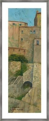 Sartene Corsica Framed Print