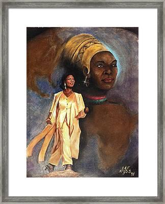 Sashay Framed Print by Carl Towns II