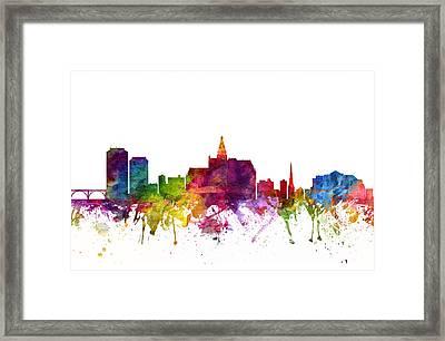 Saskatoon Canada Cityscape 06 Framed Print by Aged Pixel