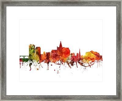 Saskatoon Cityscape 04 Framed Print by Aged Pixel
