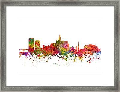 Saskatoon Cityscape 08 Framed Print by Aged Pixel
