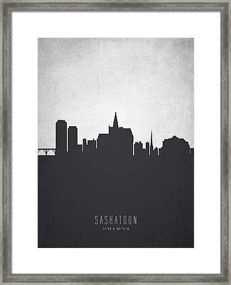 Saskatoon Saskatchewan Cityscape 19 Framed Print by Aged Pixel