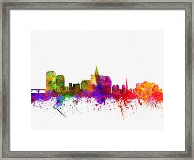 Saskatoon Saskatchewan Skyline Color02 Framed Print by Aged Pixel