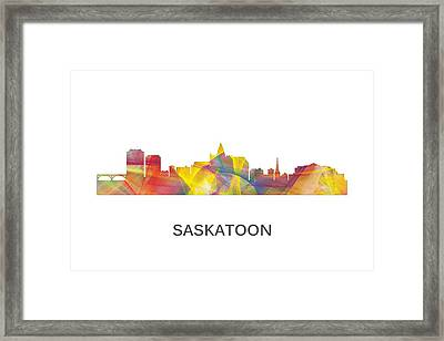 Saskatoon Sask.skyline Framed Print by Marlene Watson