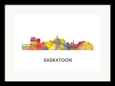 Sask Digital Art Framed Prints
