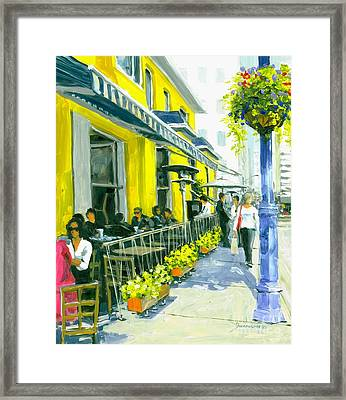 Framed Print featuring the painting Sassafraz by Michael Swanson