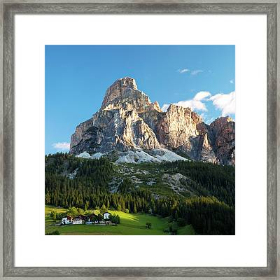 Sassongher At Sunrise, Alta Badia Framed Print by Matteo Colombo