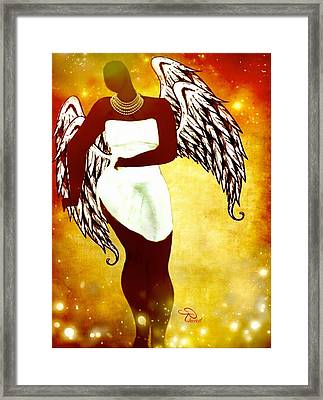 Sassy Angel Framed Print by Romaine Head