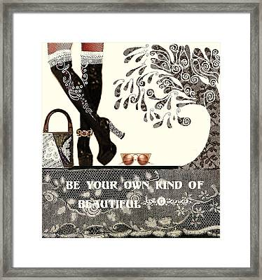 Sassy Boots  II Framed Print by Jenny Elaine