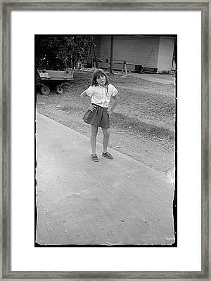 Sassy Girl, 1971 Framed Print