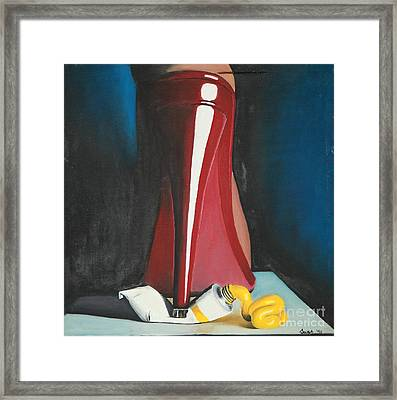 Sassy Shoe Framed Print by Jacqueline Athmann
