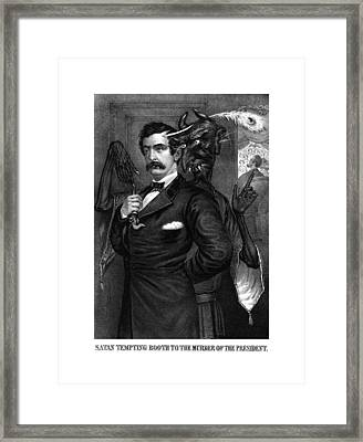 Satan Tempting John Wilkes Booth Framed Print by War Is Hell Store