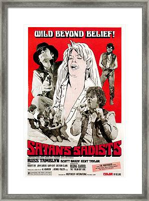 Satans Sadists, Russ Tamblyn Bottom Framed Print