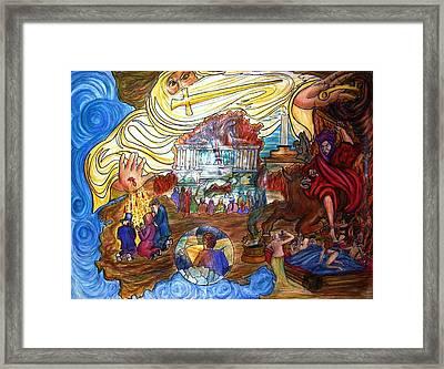 Satans Throne Framed Print by Richard  Hubal