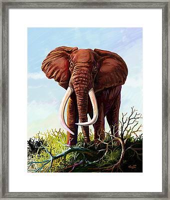 Satao II - The Elephant Framed Print