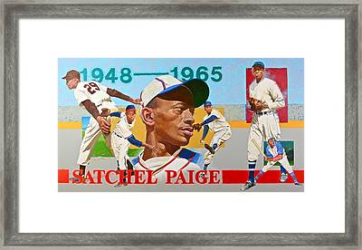 Framed Print featuring the painting Satchel Paige by Cliff Spohn