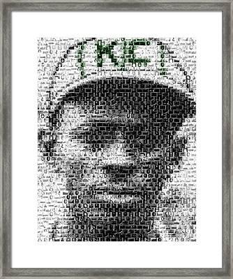 Satchel Paige Kc Monarchs African American Mosaic Framed Print by Paul Van Scott