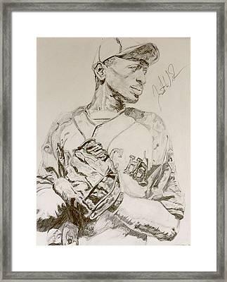 Satchel Paige Poise Framed Print