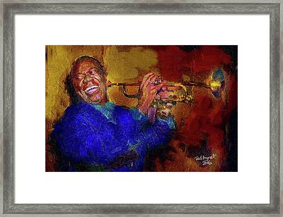 Satchmo Framed Print by Ted Azriel