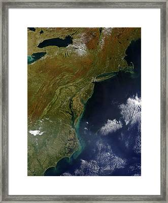 Satellite View Of The United States Framed Print by Stocktrek Images