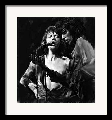The Rolling Stones By Artist David Pucciarelli Framed Prints