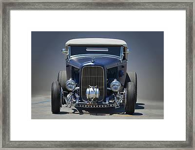 Satin Blue Deuce Framed Print