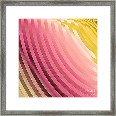 Satin Movements Coral Framed Print by Mindy Sommers