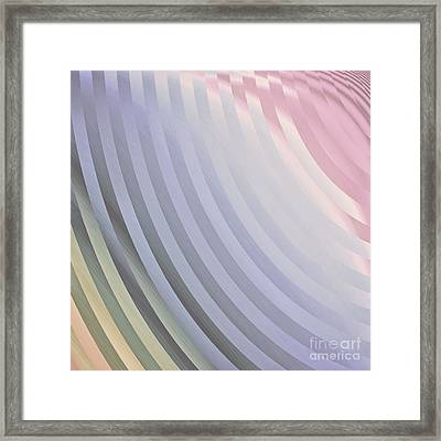 Satin Movements Lavender Framed Print by Mindy Sommers