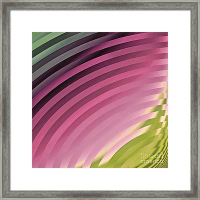 Satin Movements Pink II Framed Print by Mindy Sommers