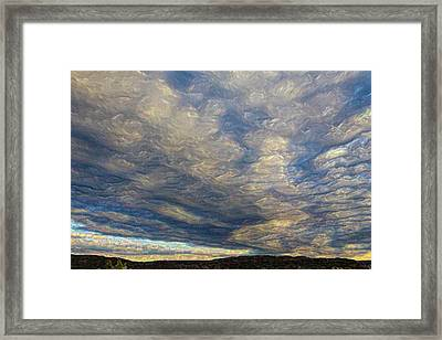 Satin Sky No. 1 Framed Print