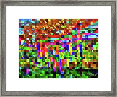 Satin Tiles Framed Print by Ludwig Keck