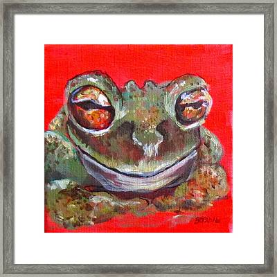 Satisfied Froggy  Framed Print