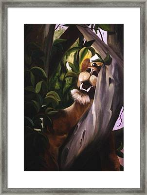 Framed Print featuring the painting Satisfied by Renate Nadi Wesley