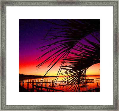 Saturated Sunrise Framed Print by Nicole I Hamilton