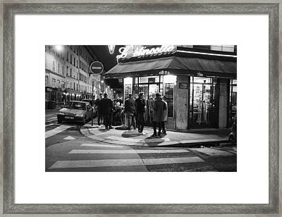 Saturday Evening In Paris Framed Print