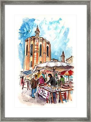 Saturday Market In Albi 01 Framed Print by Miki De Goodaboom