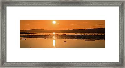 Saturday Morning Along The Estuary Pano Framed Print