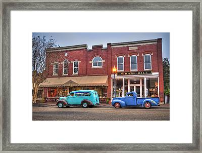 Saturday Morning On Main Steet Framed Print