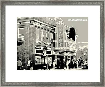 Saturday Night At The Roxy Framed Print