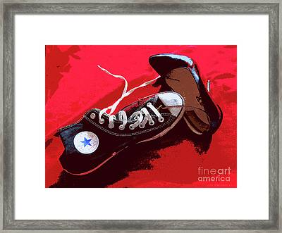 Living In Converse Saturday Night. Framed Print