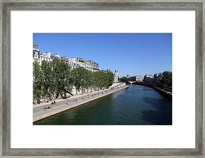 Saturday On The Seine 1 Framed Print by Andrew Fare