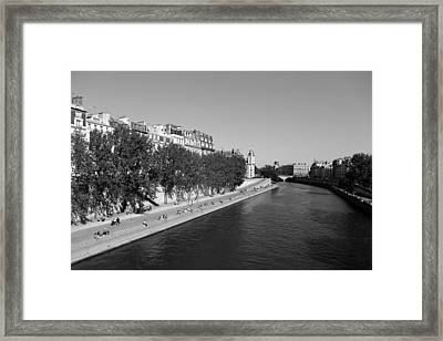 Saturday On The Seine 2 Framed Print by Andrew Fare