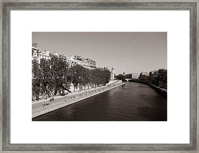 Saturday On The Seine 3 Framed Print by Andrew Fare