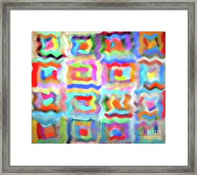Saturday Quilting Muse Framed Print by Gwyn Newcombe