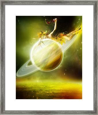 Saturn Framed Print by Mary Hood