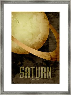 Saturn Framed Print by Michael Tompsett