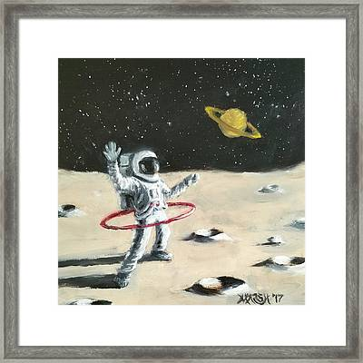 Saturn Ring Framed Print