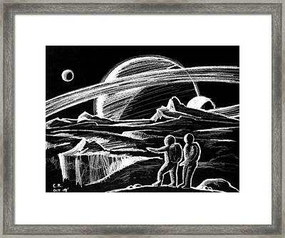 Saturn Visitors Framed Print by Daniel House