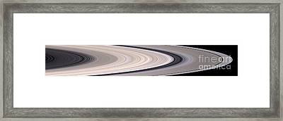 Saturns Ring System Framed Print by Stocktrek Images