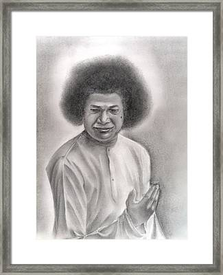 Satya Sai Baba Framed Print by Vijaykrishna Ravichandran